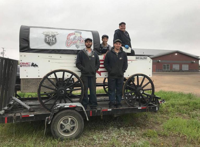 Mechanic Crew with Wagon
